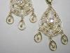Gold filigran earrings