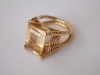 18k gold ring with diamonds and citrin
