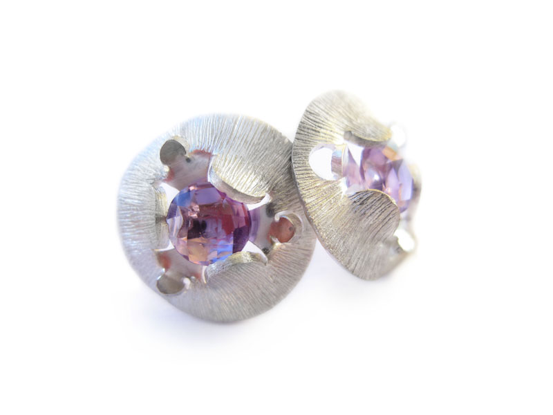 Amethyst earrings from silver