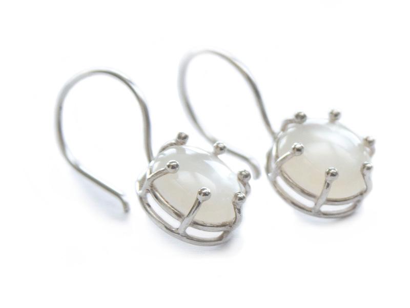 Mother of pearl sterling silver earrings